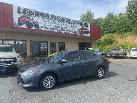 2018 Toyota Corolla for sale at London Motor Sports, LLC in London KY