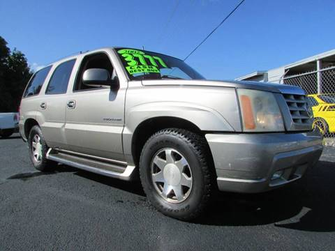 2002 Cadillac Escalade for sale at The Repo Store - 624 SOUTH MILITARY TRAIL LOT 1 in West Palm Beach FL