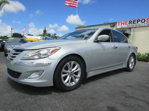 2012 Hyundai Genesis for sale at The Repo Store - 1616 South Military Trail Lot 2 in West Palm Beach FL
