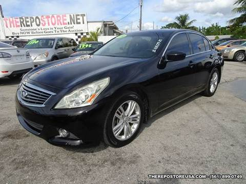 2010 Infiniti G37 Sedan for sale at The Repo Store - 1616 South Military Trail Lot 2 in West Palm Beach FL