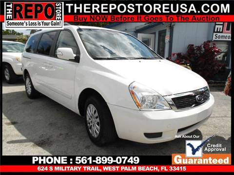 2012 Kia Sedona for sale at The Repo Store - 624 SOUTH MILITARY TRAIL LOT 1 in West Palm Beach FL