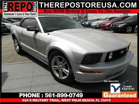 2007 Ford Mustang for sale at The Repo Store - 1616 South Military Trail Lot 2 in West Palm Beach FL