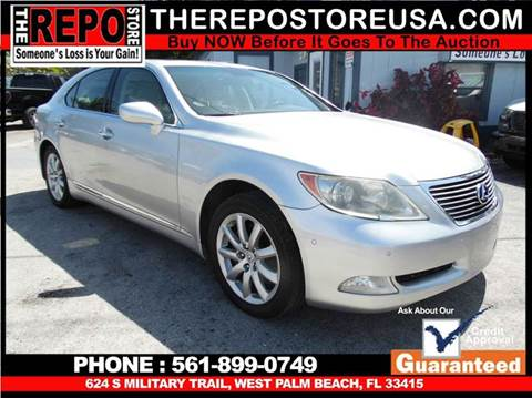 2007 Lexus LS 460 for sale at The Repo Store - 1616 South Military Trail Lot 2 in West Palm Beach FL