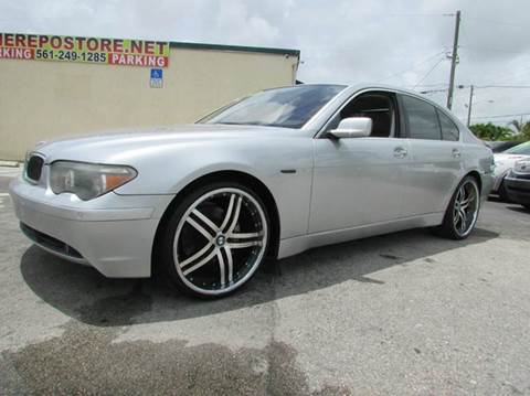 2005 BMW 7 Series for sale at The Repo Store - 1616 South Military Trail Lot in West Palm Beach FL