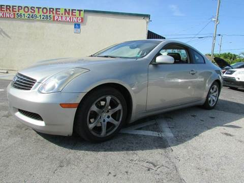 2003 Infiniti G35 for sale at The Repo Store - 1616 South Military Trail Lot 2 in West Palm Beach FL