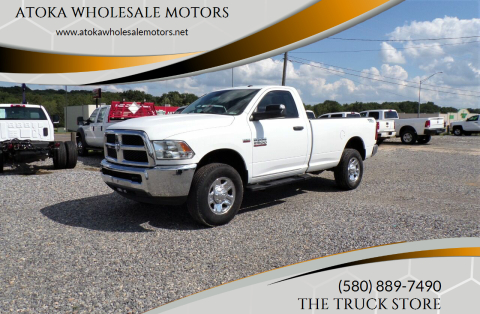 2017 RAM Ram Pickup 2500 for sale at ATOKA WHOLESALE MOTORS in Atoka OK