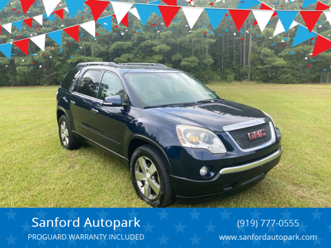 2012 GMC Acadia for sale at Sanford Autopark in Sanford NC