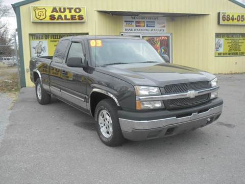 2003 Chevrolet Silverado 1500 for sale at Mr. G's Auto Sales in Shelbyville TN