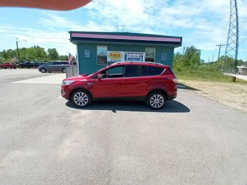 2017 Ford Escape for sale at E & H Auto Sales in South Haven MI