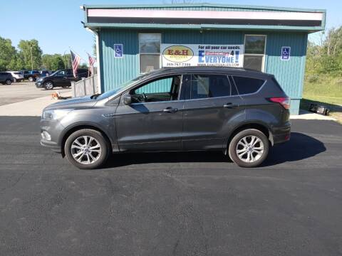 2018 Ford Escape for sale at E & H Auto Sales in South Haven MI