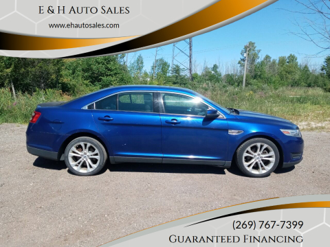 2013 Ford Taurus for sale at E & H Auto Sales in South Haven MI