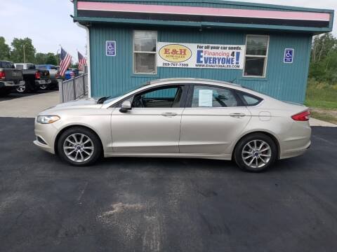 2017 Ford Fusion for sale at E & H Auto Sales in South Haven MI