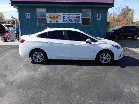 2018 Chevrolet Cruze for sale at E & H Auto Sales in South Haven MI