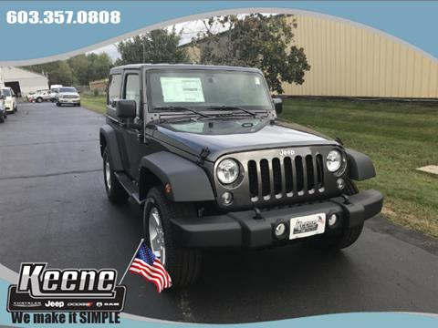 2017 Jeep Wrangler for sale in Keene, NH