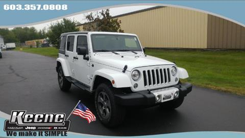 2017 Jeep Wrangler Unlimited for sale in Keene NH