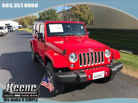 2017 Jeep Wrangler Unlimited for sale in Keene, NH