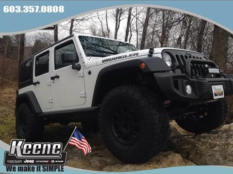 2016 Jeep Wrangler Unlimited for sale in Keene NH