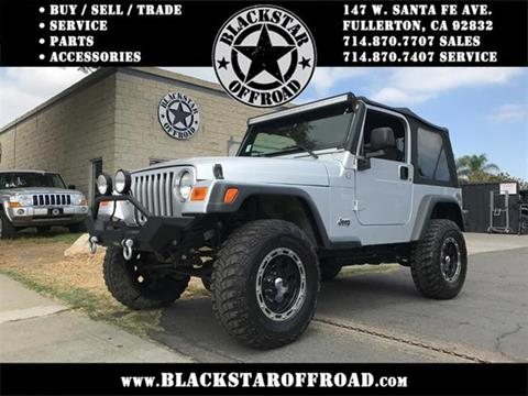 2005 Jeep Wrangler for sale in Fullerton CA