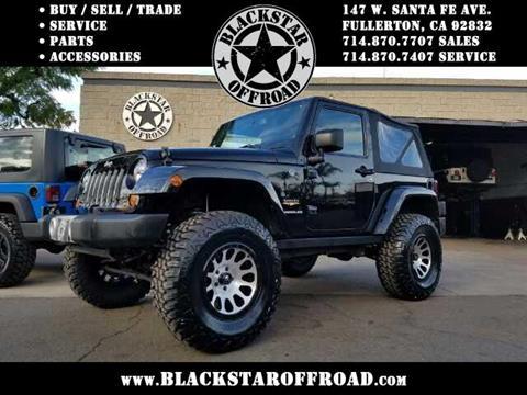 2013 Jeep Wrangler for sale in Fullerton CA