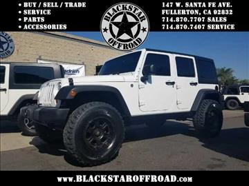 2011 Jeep Wrangler Unlimited for sale in Fullerton, CA
