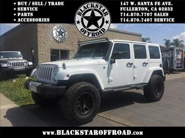 2015 Jeep Wrangler Unlimited for sale in Fullerton, CA