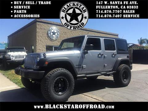 2014 Jeep Wrangler Unlimited for sale in Fullerton CA