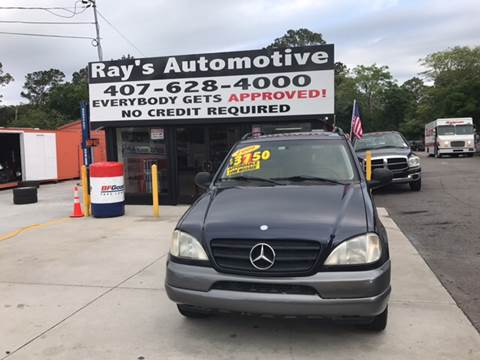 1999 Mercedes-Benz M-Class for sale at RAYS AUTOMOTIVE SALES & REPAIR INC in Longwood FL