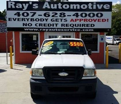 2007 Ford Ranger for sale at RAYS AUTOMOTIVE SALES & REPAIR INC in Longwood FL