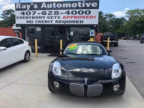2007 Pontiac Solstice for sale at RAYS AUTOMOTIVE SALES & REPAIR INC in Longwood FL