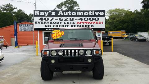 2003 HUMMER H2 for sale at RAYS AUTOMOTIVE SALES & REPAIR INC in Longwood FL