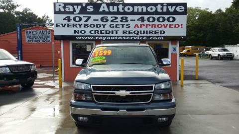 2006 Chevrolet Silverado 1500 for sale at RAYS AUTOMOTIVE SALES & REPAIR INC in Longwood FL