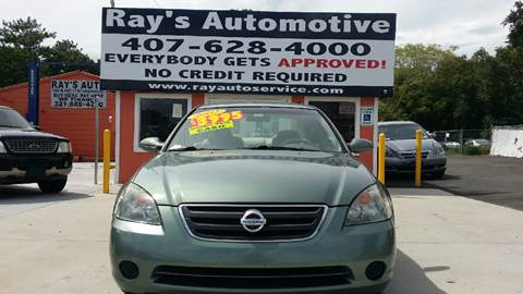 2002 Nissan Altima for sale at RAYS AUTOMOTIVE SALES & REPAIR INC in Longwood FL