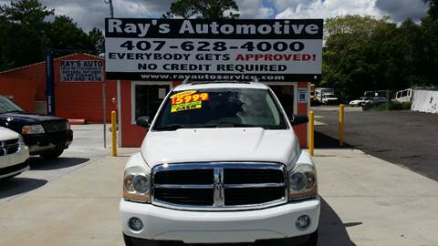 2006 Dodge Durango for sale at RAYS AUTOMOTIVE SALES & REPAIR INC in Longwood FL