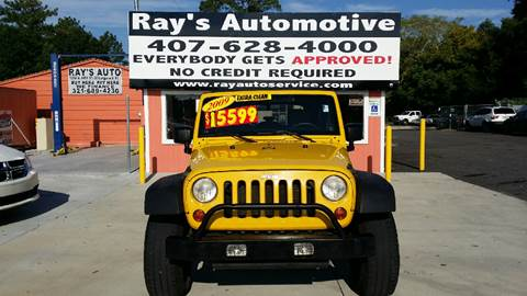 2009 Jeep Wrangler Unlimited for sale at RAYS AUTOMOTIVE SALES & REPAIR INC in Longwood FL
