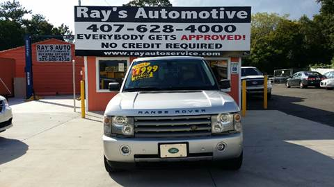 2005 Land Rover Range Rover for sale at RAYS AUTOMOTIVE SALES & REPAIR INC in Longwood FL