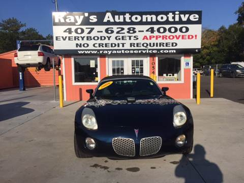 2006 Pontiac Solstice for sale at RAYS AUTOMOTIVE SALES & REPAIR INC in Longwood FL