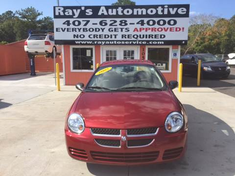 2005 Dodge Neon for sale at RAYS AUTOMOTIVE SALES & REPAIR INC in Longwood FL