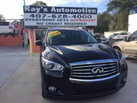 2013 Infiniti JX35 for sale at RAYS AUTOMOTIVE SALES & REPAIR INC in Longwood FL