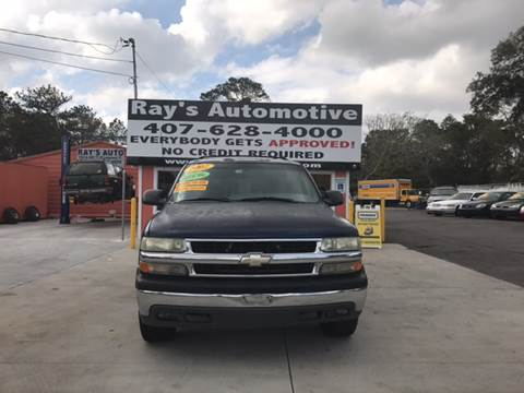 2002 Chevrolet Suburban for sale at RAYS AUTOMOTIVE SALES & REPAIR INC in Longwood FL
