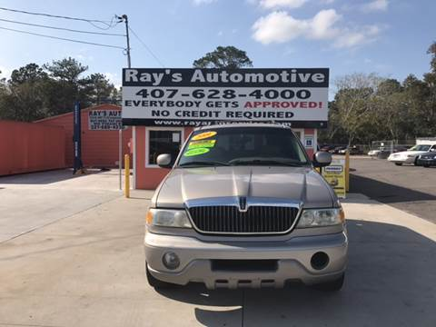 2001 Lincoln Navigator for sale at RAYS AUTOMOTIVE SALES & REPAIR INC in Longwood FL