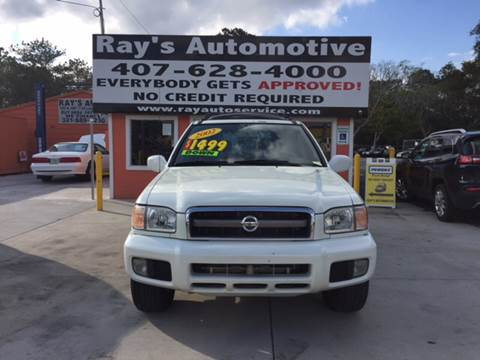 2002 Nissan Pathfinder for sale at RAYS AUTOMOTIVE SALES & REPAIR INC in Longwood FL