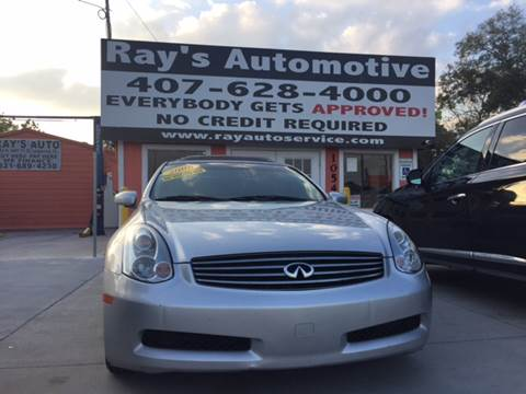 2006 Infiniti G35 for sale at RAYS AUTOMOTIVE SALES & REPAIR INC in Longwood FL