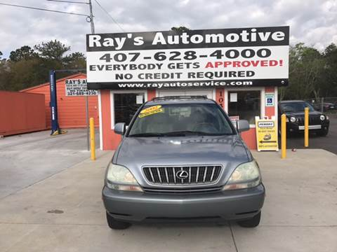 2002 Lexus RX 300 for sale at RAYS AUTOMOTIVE SALES & REPAIR INC in Longwood FL