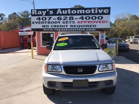 2001 Honda Passport for sale at RAYS AUTOMOTIVE SALES & REPAIR INC in Longwood FL