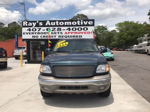 2002 Ford F-150 for sale at RAYS AUTOMOTIVE SALES & REPAIR INC in Longwood FL