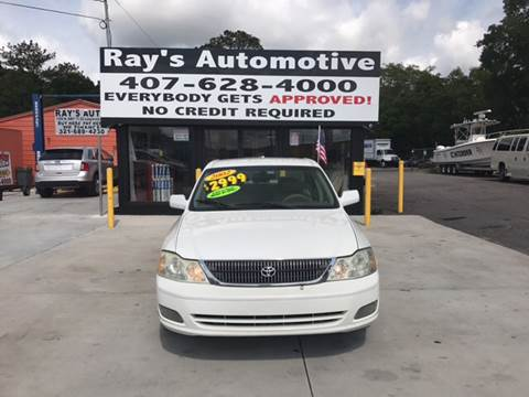 2002 Toyota Avalon for sale at RAYS AUTOMOTIVE SALES & REPAIR INC in Longwood FL