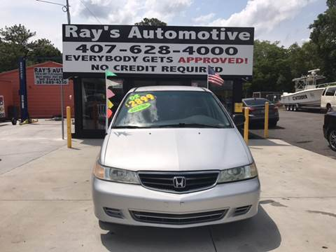 2002 Honda Odyssey for sale at RAYS AUTOMOTIVE SALES & REPAIR INC in Longwood FL