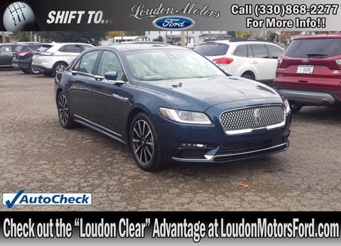 Lincoln continental for sale in ohio for Loudon motors ford minerva