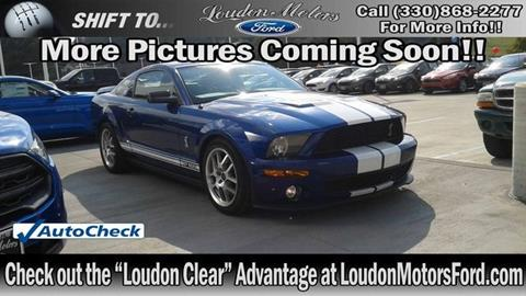 2008 ford shelby gt500 for sale for Loudon motors minerva ohio