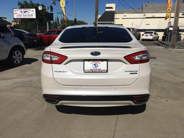 2013 Ford Fusion for sale at Auto World Auto Sales in Modesto CA